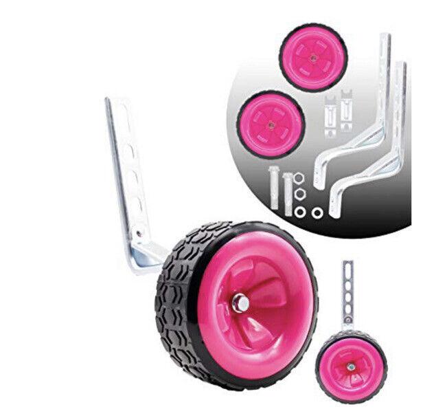 Bicycle Pink Training Wheels Fits 14 16 18 20 22 Kids Bike 033 New