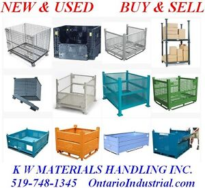 WIRE MESH CONTAINERS, BULK BOXES, STACKING BINS, DUMPING HOPPERS