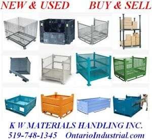 WIRE MESH BINS. COLLAPSIBLE BULK CONTAINERS. STEEL STACKING BINS