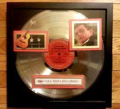 JOHNNY CASH at FOLSOM PRISON -  RARE GOLD RECORD  Never shipped - PRISTINE COND.