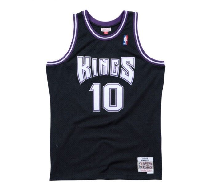 official photos 856a1 9c569 Details about Mike Bibby #10 Sacramento Kings Mitchell & Ness NBA Mesh  Throwback Jersey Black