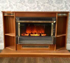 Suncrest flame effect electric fire and surround.