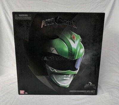 Mighty Morphin Power Rangers Legacy Green Ranger Helmet 1 1 Bandai Full Size