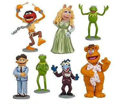 Muppets Kermit Ms Piggy Playset 7 Figure Cake Topper * USA SELLER* Toy Doll Set (Usa Toy)
