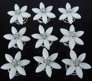 10 curlies haarnadeln edelweiss blume hochzeit stra tiara haarschmuck weiss neu ebay. Black Bedroom Furniture Sets. Home Design Ideas