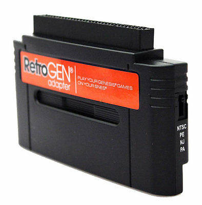 RetroGen Sega Genesis to SNES Adapter for Nintendo SNES / 16-bit Consoles