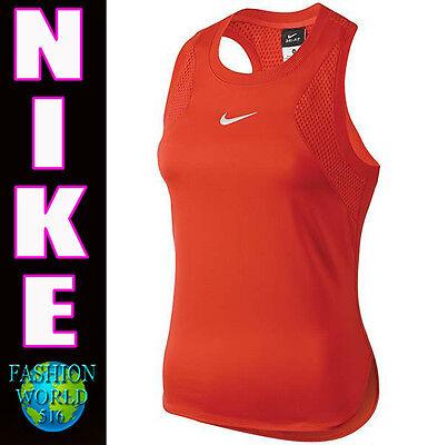 Womens Nike Dri Fit Premier Maria Sharapova Tennis Tank 728723 Crimson Size Xs