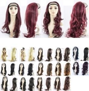 NEW-24-HALF-HEAD-REVERSIBLE-WIG-HAIR-PIECE-EXT-1-2-HEAD-IN-12-COLOURS
