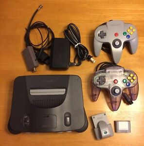 Nintendo 64 console, controllers, games, extras
