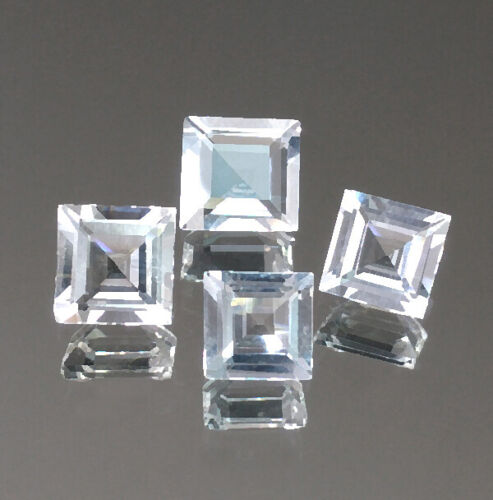 3.60cts Square Step cut Colorless White Natural Morganite Loose Genuine Gemstone