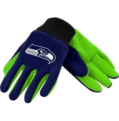 SEATTLE SEAHAWKS TEAM TAILGATE GAME DAY PARTY UTILITY WORK GLOVES NFL - Seahawks Party