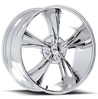 """18""""  Chrome BOSS performance bullet Rims with RUBBER"""