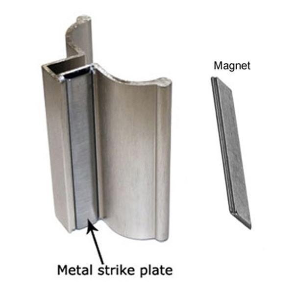 """3""""Brushed Nickel Frameless Shower Door Handle with Metal Str"""