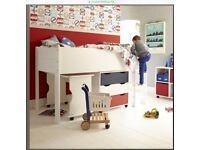 Childrens Mid Sleeper Single Modern Bed - Aspace.