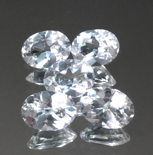 4.23cts 8x6mm Oval Colorless White Natural Morganite Loose Genuine Gemstones Lot