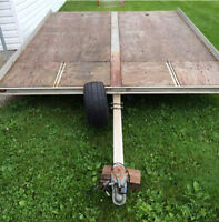 2 place aluminum snowmobile trailer