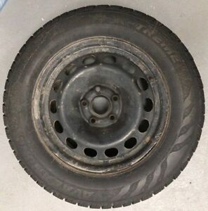 $100 - 4 AVALANCHE EXTREME STUDDED TIRES 215/65R16 WITH RIMS