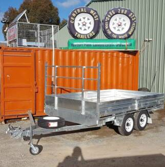 CWT GALVANISED CAR, TIPPER, TABLE TOP TRAILERS