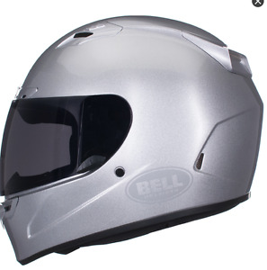 Bell Vortex Motorcycle Helmet for sale Like New Large Silver