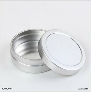 10pcs 10ml Empty Cosmetic Pots Lip Balm Container Jar Silver Aluminum Tins