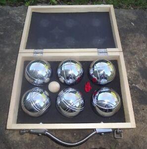 Ensemble de 6 Boules de pétanque en métal neuve avec coffret