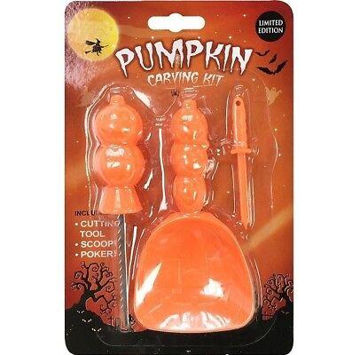 3pc Halloween Pumpkin Carving Kit Tool Set DIY Modelling Carver Scoop Decoration