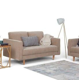 Wayfair Blaine 2 Seater Sofa Warm Grey | RRP £509