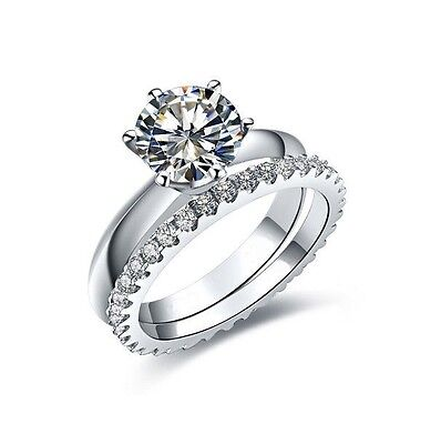 1ct Carat Round Cut Diamond Solitaire Knife Edge Engagement Ring Eternity -