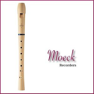 Moeck Two-Piece Soprano Recorder + Carry Bag + Chart- Premium Beginners Recorder