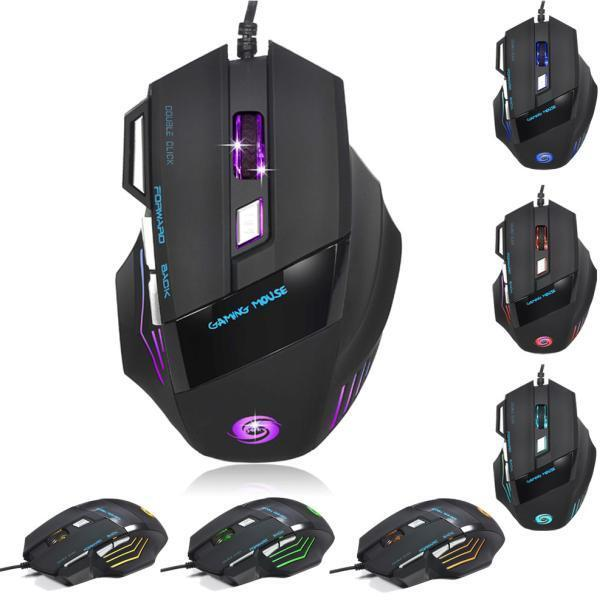 5500 dpi 7 button led optical usb wired gaming mouse mice for pro gamer wp