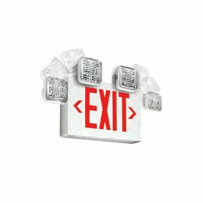 Emergi-lite Singledouble Face - Led Combo Exit Sign - Self Test Red Letters