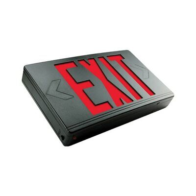 Exitronix Led Exit Sign - Single Or Double Face - Red Letters - Black 120277v