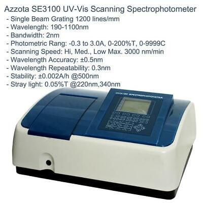 Azzota Single Beam Scanning Stand-alone Uv-vis Spectrophotometer