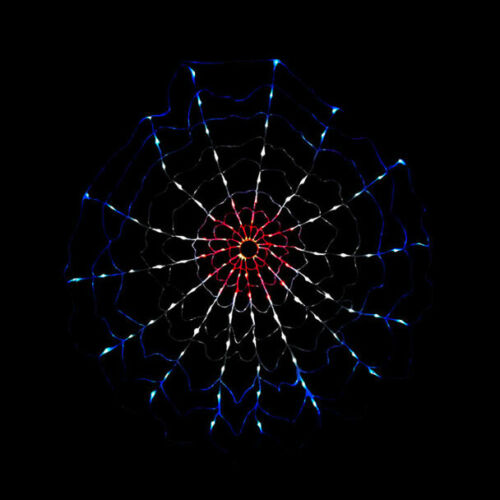 Patriotic Firecracker Motion Web LED 4th of July Light Display Outdoor Decor NEW
