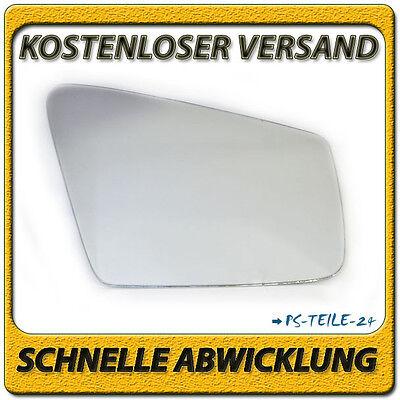 Spiegelglas zum Kleben für MERCEDES C-Klasse W204 Facelift 2009-2012 rechts sphä