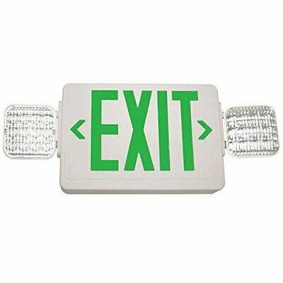 Exitronix Singledouble Face - Led Combo Exit Sign - Self Test Green Letters