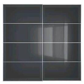 2 IKEA Uggdal sliding DOORS ONLY for Pax Wardrobes