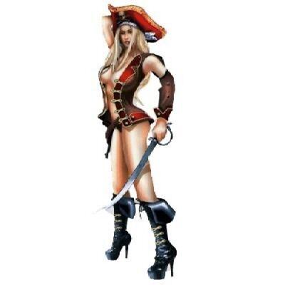 Sexy Girl Piraten (Aufkleber Pirat Sexy Pin up Girl 20x6cm Pirate Babe Decal Hot Busen Scharf Helm )