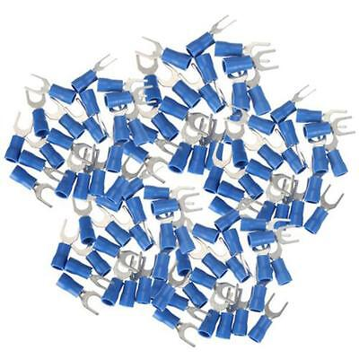 100PCS Insulated Fork Spade Wire Connector Electrical Crimp Terminal 14-16AWG