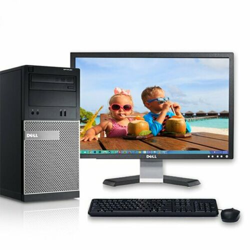 "Dell Optiplex 390 Tower I5 3.1ghz Cpu 256gb Ssd 1tb Hdd 6gb Ram 19"" Lcd Monitor"