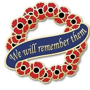 Poppy Wreath Remembrance Day - *ANZAC Day* Memorial Day Lapel Badge