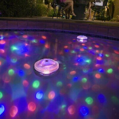 Floating Underwater RGB LED Disco Light Glow Show Swimming Pool Hot Tub Spa Lamp - Floating Led Lights
