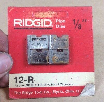1 Pack Of Ridgid 18 Pipe Dies Npt 12-r Oo-r 111-r O-r 11-r Rigid Head