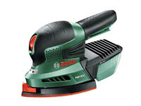 bosch cordless sander with case faulty