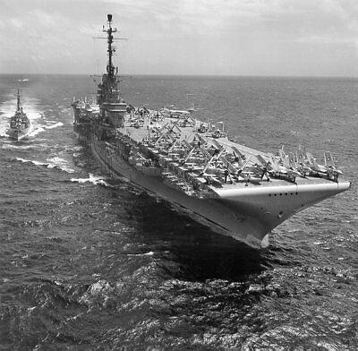 Uss Essex Class - USS YORKTOWN 8X10 PHOTO CV-10 NAVY US USA MILITARY ESSEX CLASS AIRCRAFT CARRIER