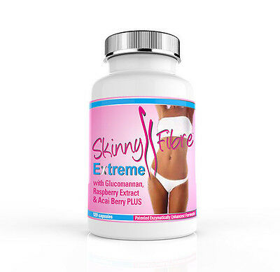 Skinny Fibre Extreme 120 Weight Loss Dieting Food Supplement Hunger Suppressants