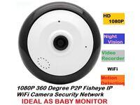 1080P 360 Degree P2P Fisheye IP WiFi Camera Security Network Night Vision THE BEST BABY MONITOR
