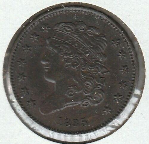 1835 Almost UNC AU Classic Head US Half Cent 1/2C