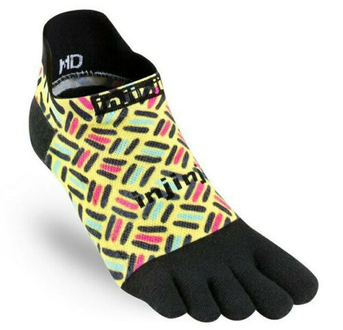 Injinji Toe Socks No Show Running Run 2.0 Spectrum ETCH Cushioning Small