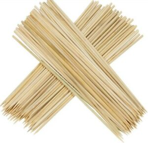 New Bamboo Skewers Sticks 150pcs For BBQ Kebab Fruit Wooden Sticks 12Inch